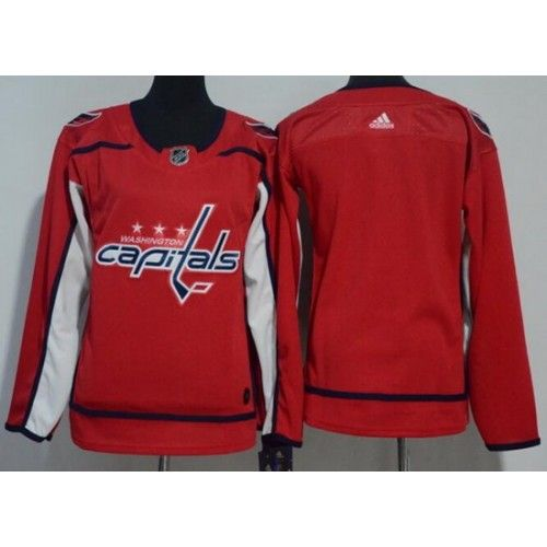 womens washington capitals blank red adidas jersey