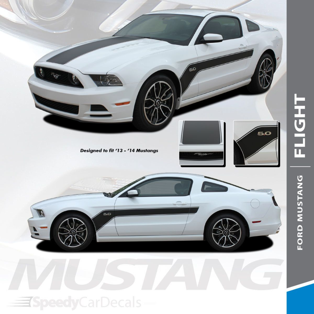 2013 2014 Ford Mustang Hood And Side Decals Stripes Flight Premium Auto Vinyl Decals Ford Mustang Volkswagen Polo Gti Vinyl For Cars [ 1199 x 1200 Pixel ]