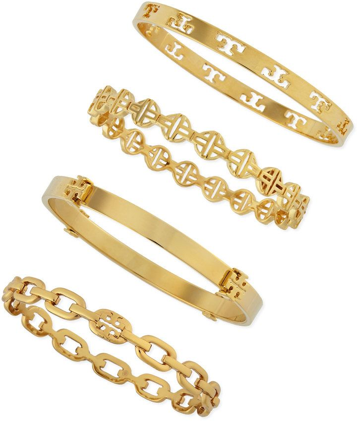 tory burch stackable golden tory logo station bangle the ultimate christmas gift guide. Black Bedroom Furniture Sets. Home Design Ideas