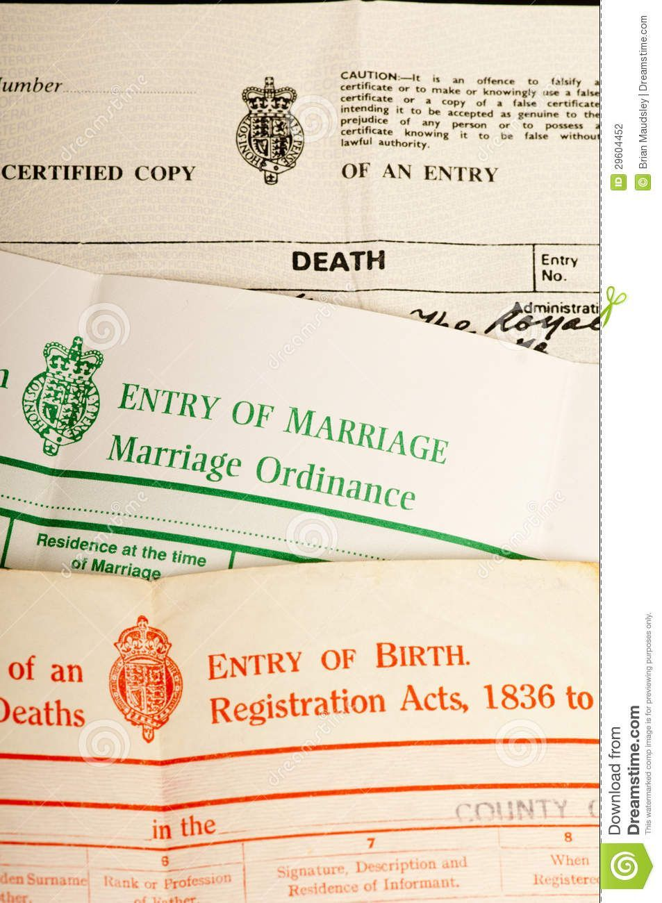 Birth Marriage And Death Certificates Download From Over 66