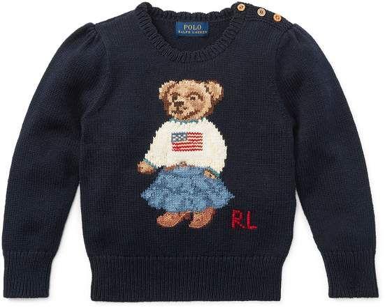 5167fee9 Ralph Lauren Kids Polo Bear Cotton Sweater | Products | Pinterest ...