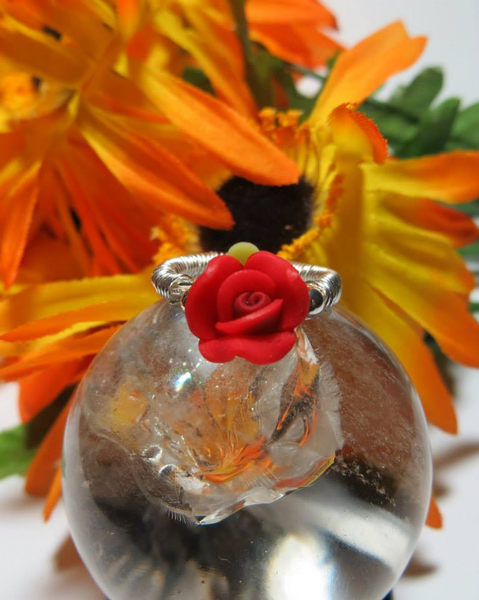 ⭐️♥️⭐️Beauty for the hands!! ♥️ Rose Ring ♥️ Handmade⭐️♥️⭐️