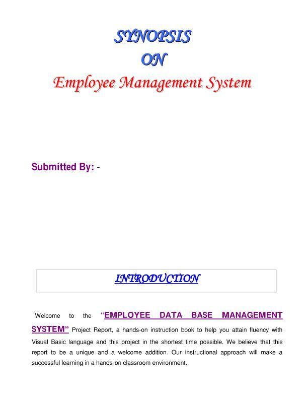 year project report synopsis thesis for mca mba Try Pinterest - project report