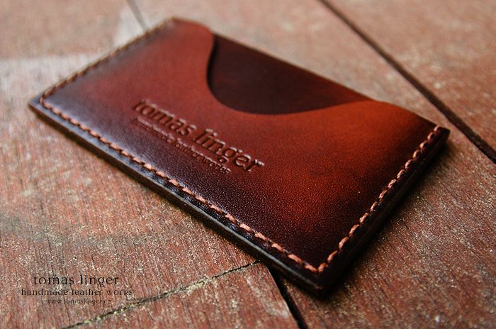 pouzdro na platební karty z kůže