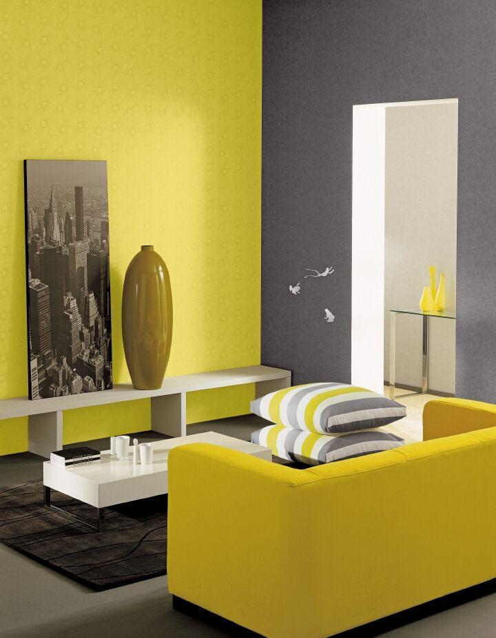 Prachtig geel in contrast met grijs kleur in je for Kleur in je interieur