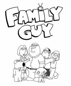 Family guy coloring page   Coloring Pages   Pinterest   Family guy