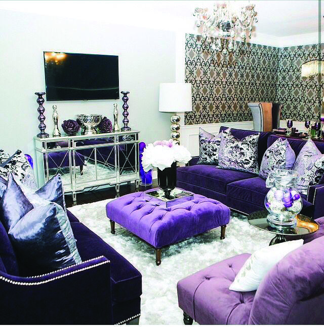 Best Purple Living Room Wall Art One And Only Alexadecor Com Purple Living Room Living Room Designs Woman Cave #purple #pictures #for #living #room