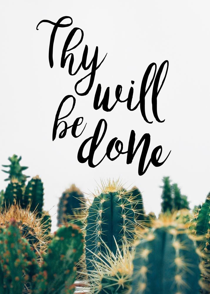 Thy will be done images
