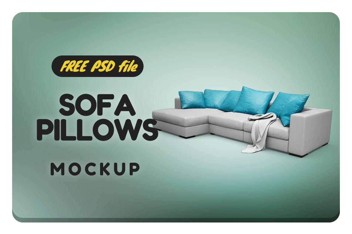 Sofa Pillow Mockup Free