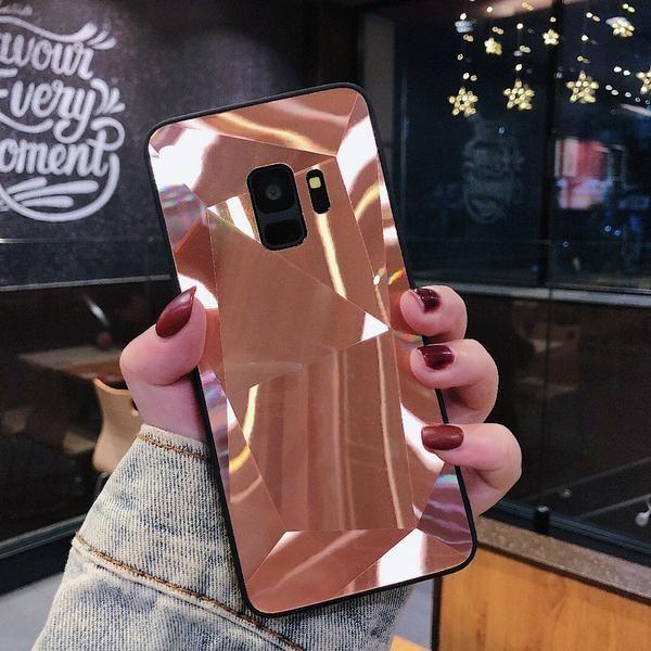 Candy Color Samsung Galaxy Cover 3d Geometric Mirror Phone Case Capas Samsung Capas De Celular Capas Para Telefone