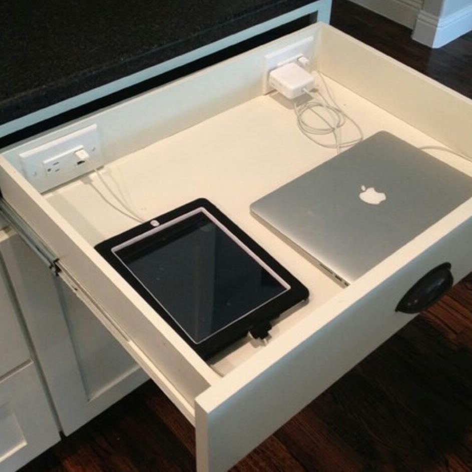 Smart power station in kitchen home furnishings pinterest