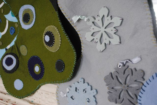 Homemade Christmas Stockings by lovefeasttable, via Flickr