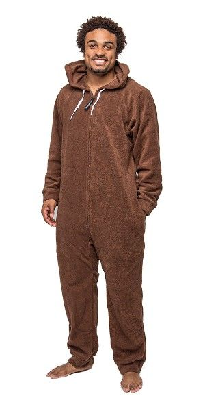 Brown Deluxe Adult Onesies, Footed Pajamas, Onesie Footie PJs ...