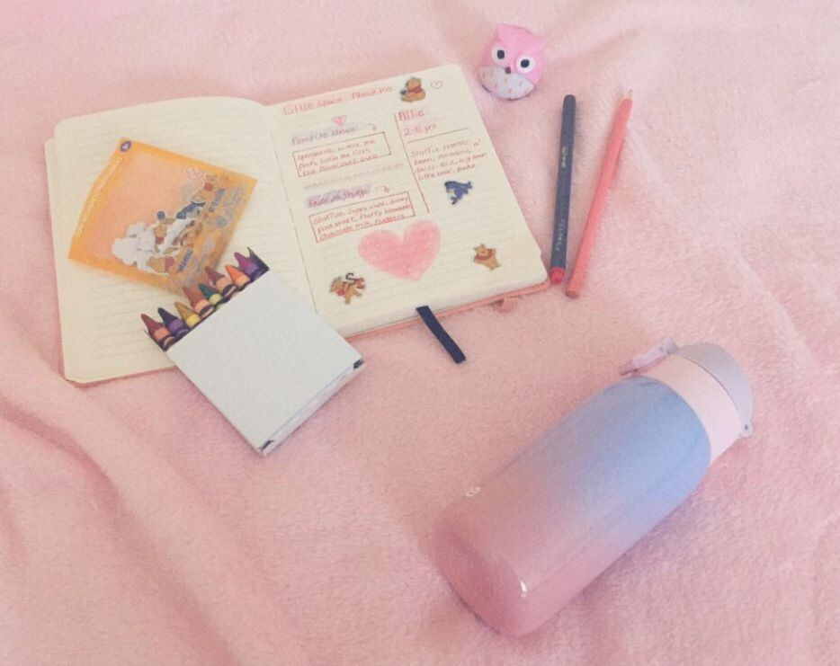 """princessplushie: """"writing in my little space journal and drinking"""