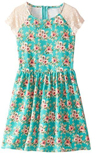 Emerald Sundae Big Girls Short Sleeve Dress Mint 8 -- Learn more by visiting the image link.