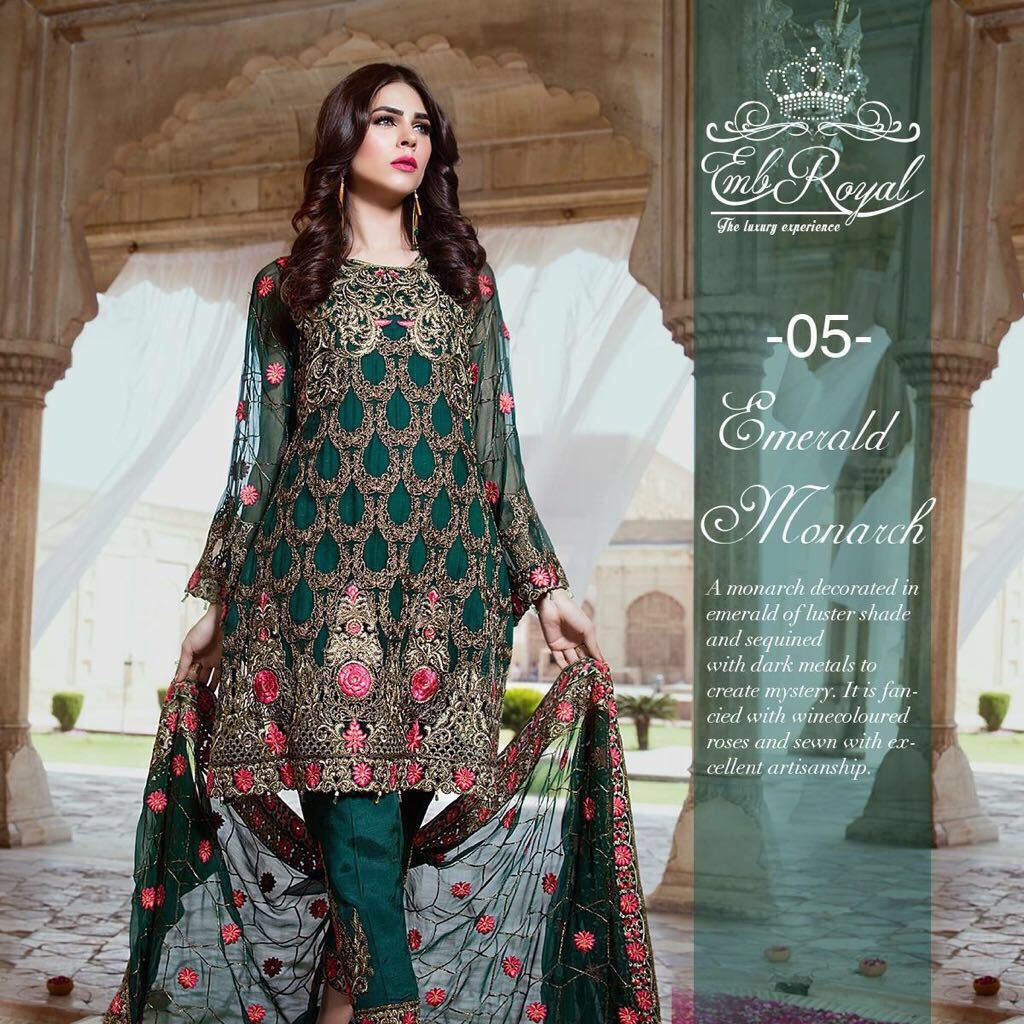 8a7ea1685e Emb Royal, Emb Royal Embroidered Linen Dress, Emb Royal Linen Replica,  Master Quality Replica, Replica, Emb Royal 2017, Ladies Clothing, Pakistani  Ladies ...