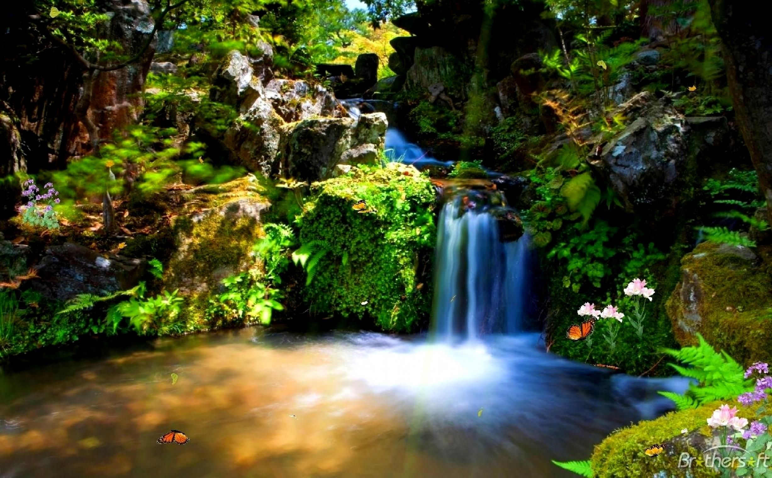 Live Waterfall Wallpaper Screensaver (55+ images) (With
