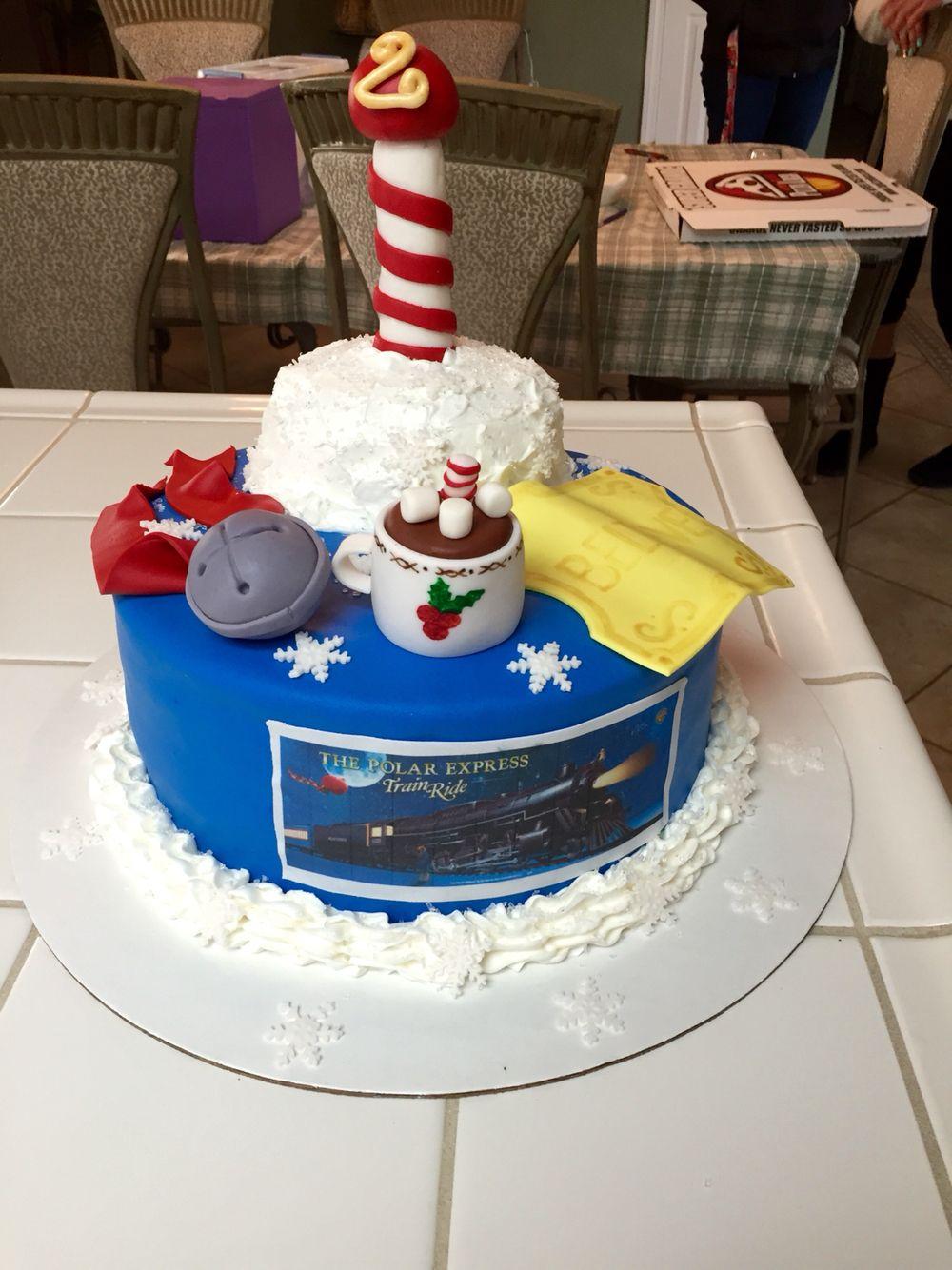 Magnificent Polar Express Cake Polar Express Birthday Cake Polar Express Funny Birthday Cards Online Fluifree Goldxyz
