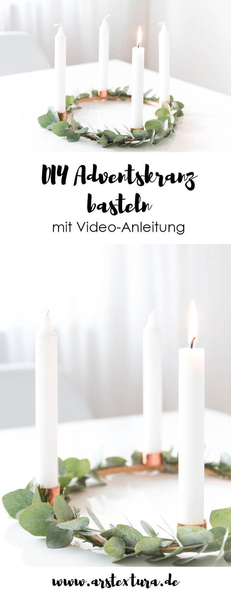 Adventskranz und Adventskalender basteln | ars textura - DIY-Blog #adventskranzskandinavisch