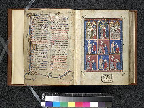 Sloane 1977, Fol 001v & 002r, Life of Christ; Surgical procedures, 1301-1325, by Roger Frugard of Parma