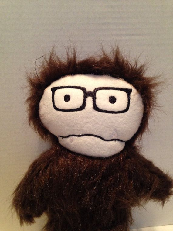 Hipster+sasquatch+plush+monster+/+Bigfoot+by+WithoutDirections