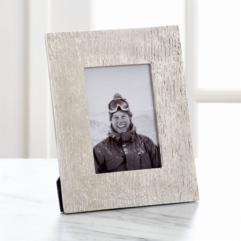 Shop Silver Bark 4 X6 Picture Frame The Textured Look Of Bark Is