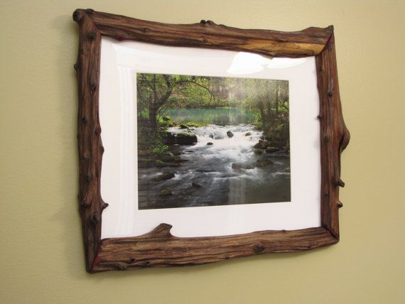 16x20 Log Picture Frame Cedar Driftwood By Missourinatureart 99 00 Picture Frames Driftwood Art Cedar Furniture
