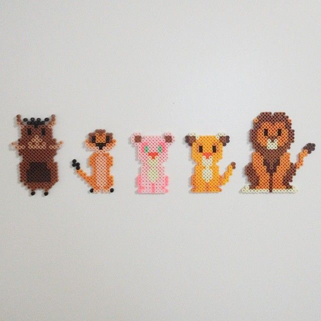The Lion King perler beads by nnyung89 | Hama Beads | Perler