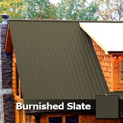 Burnished Slate Metal Roof Color Burnished Slate Metal Roofing Residential Metal Roofing Metal Roofs Farmhouse Metal Roof