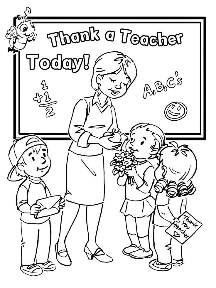 Teacher coloring page from College category Coloring-ForKids. Free ...
