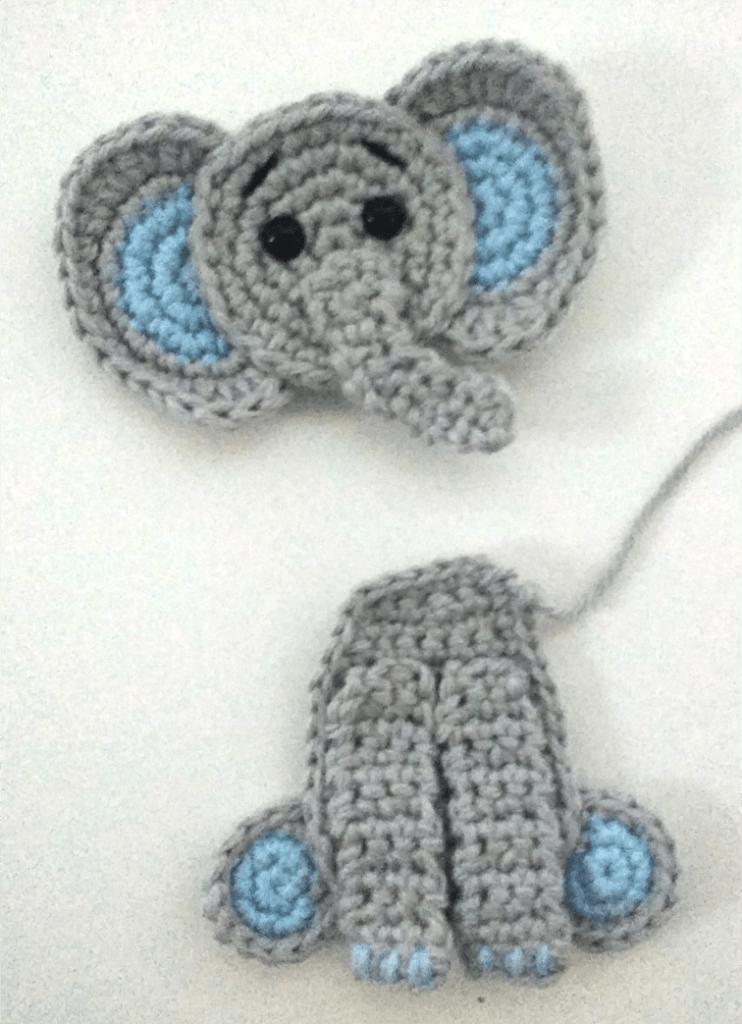 crochet elephant applique free crochet pattern ⋆ Passionatecrafter | 1024x742