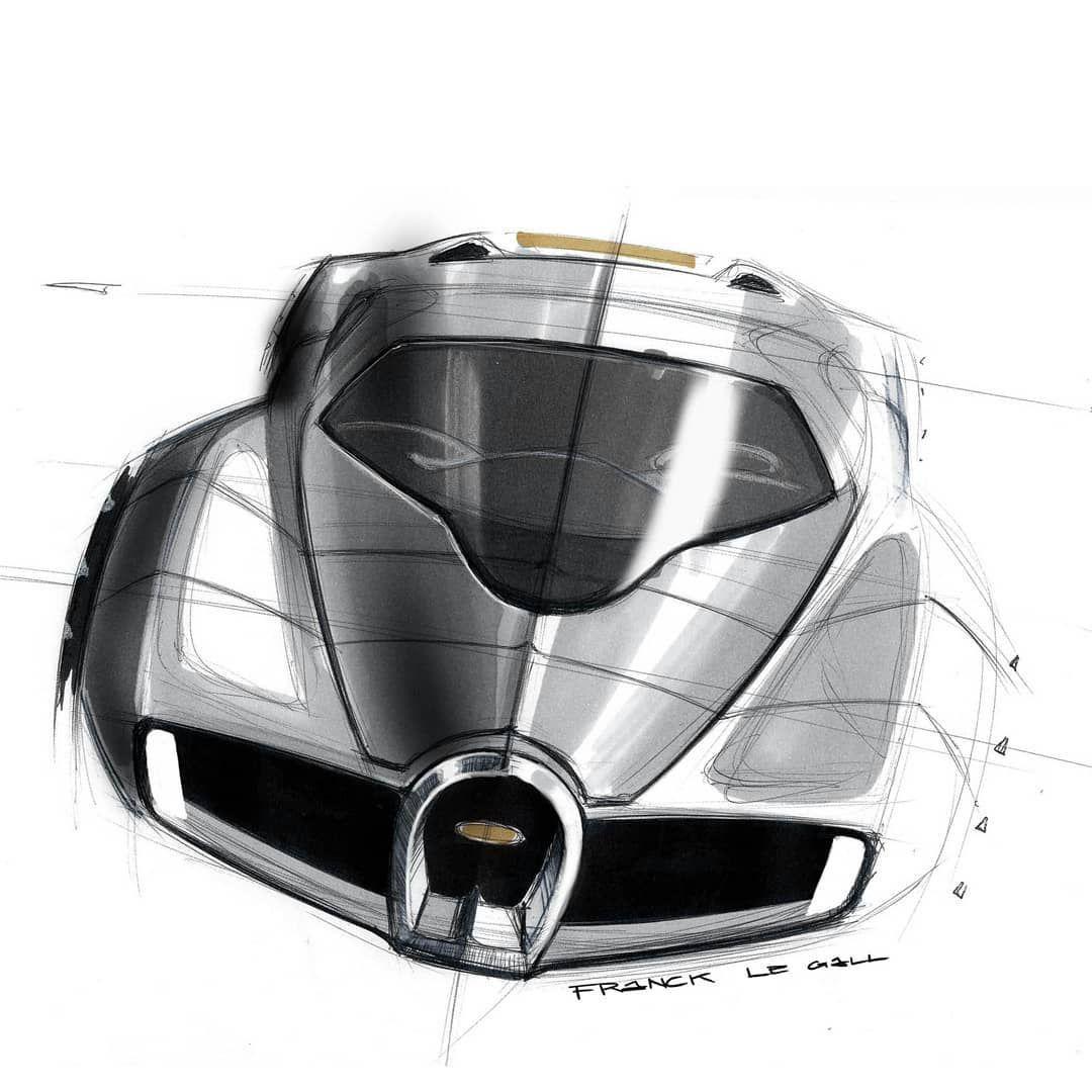 "Cardesignworld Na Instagramie 2020 Tesla Roadster: Franck Le Gall On Instagram: ""Bugatti #bugatti #carsketch"