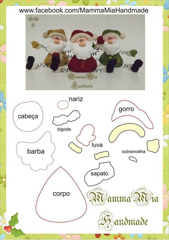 Gemelos de Navidad SincerelyForYou dise/ño de Pap/á Noel