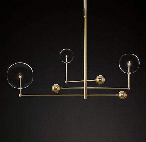 lighting globes glass. Glass Globe Mobile Chandelier | RH Modern Lighting Globes I