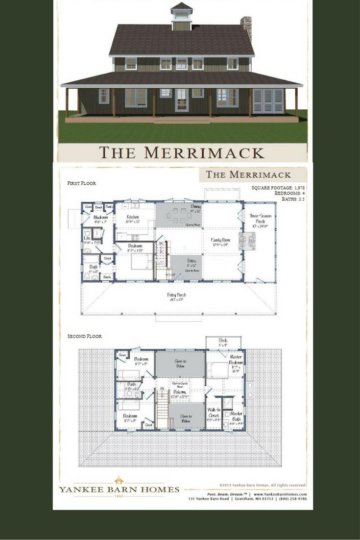 Merrimack Barn House Design Barn Style House Plans Barn House