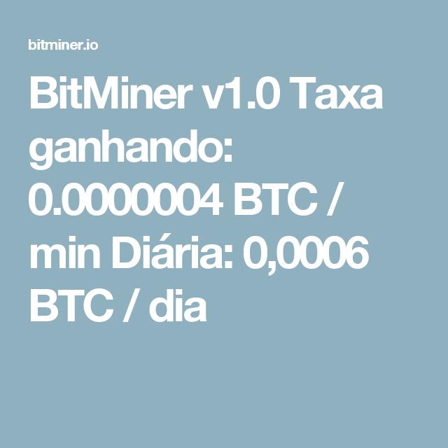 taxa btc