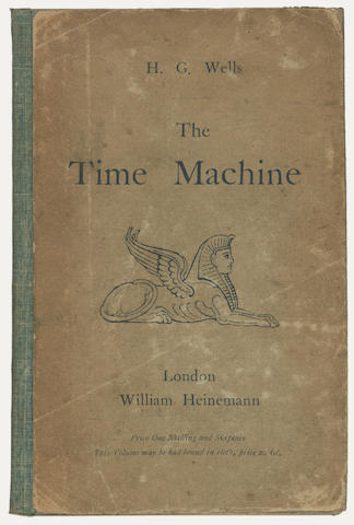 Wells H G The Time Machine An Invention William Heinemann 1895 The Time Machine Book Cover Design Inventions