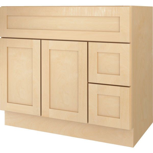 Bathroom Vanity Drawer Base Cabinet Natural Maple Shaker 36 Wide X 21 Deep New Bathroom Vanity Drawers Vanity Drawers Unfinished Bathroom Vanities