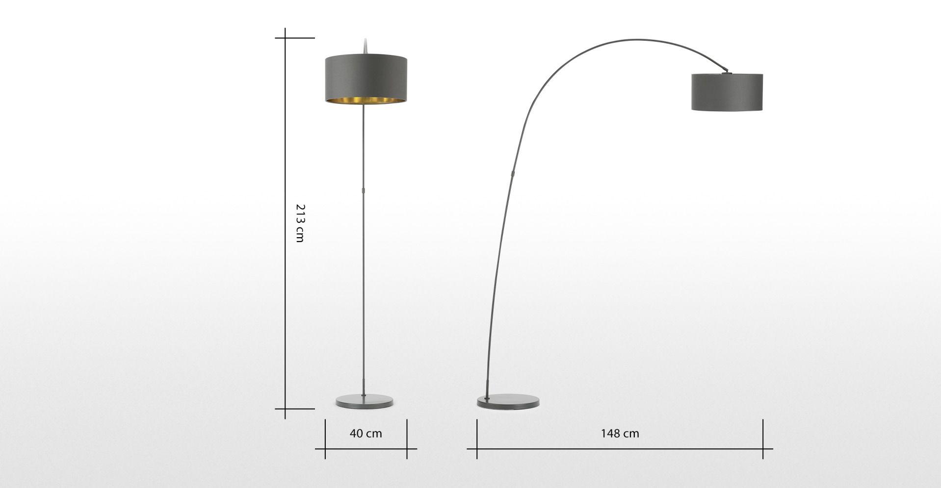 Made Stehlampe Grau In 2020 Stehlampe Stehlampe Grau Und Lampen