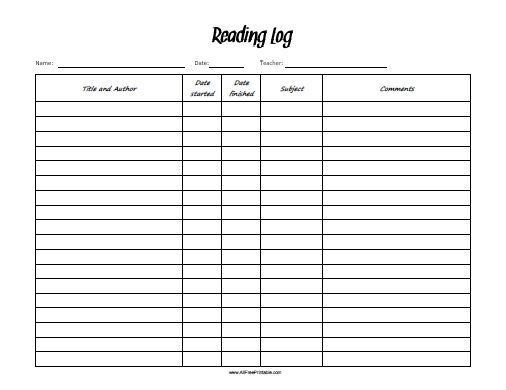 Printables Reading Log Worksheet 1000 images about reading logsreports on pinterest research report traditional books and logs