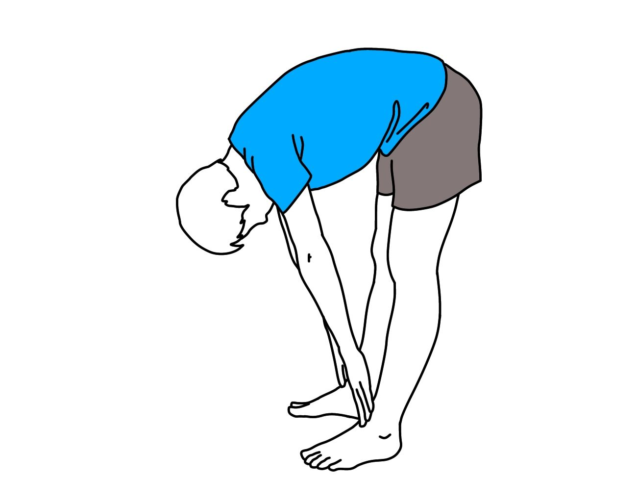 Pin On Hamstrings Stretching On The Floor Illustration 1