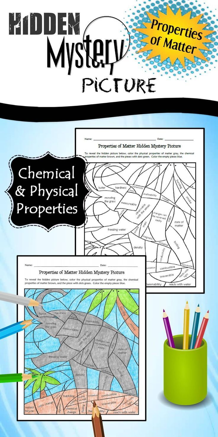 Properties of Matter Hidden Mystery Picture Chemical
