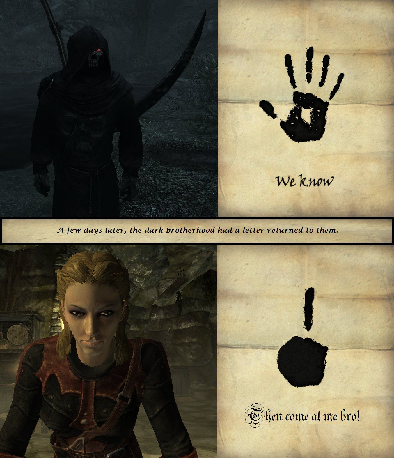 how to become a dark brotherhood in skyrim