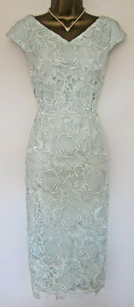 Ted Baker Velmia Midi Dress Uk 8 1 Wedding Mint Green Floral
