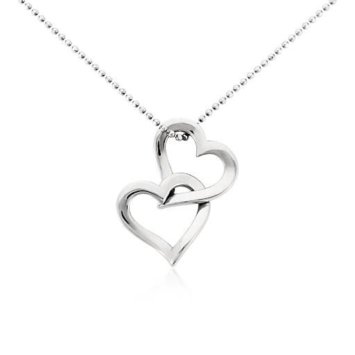 Double Heart Pendant in Platinum....JEWELRY I CAN WEAR!!!!