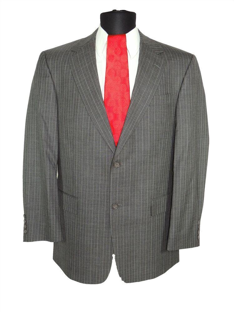 6cd8d8074 New Hugo Boss Tailored T-Howard5/Court6 Mens 150S Wool Suit Gray Pinstripe  38R (eBay Link) | Men's Clothing | Grey suit men, Suits, Mens suits