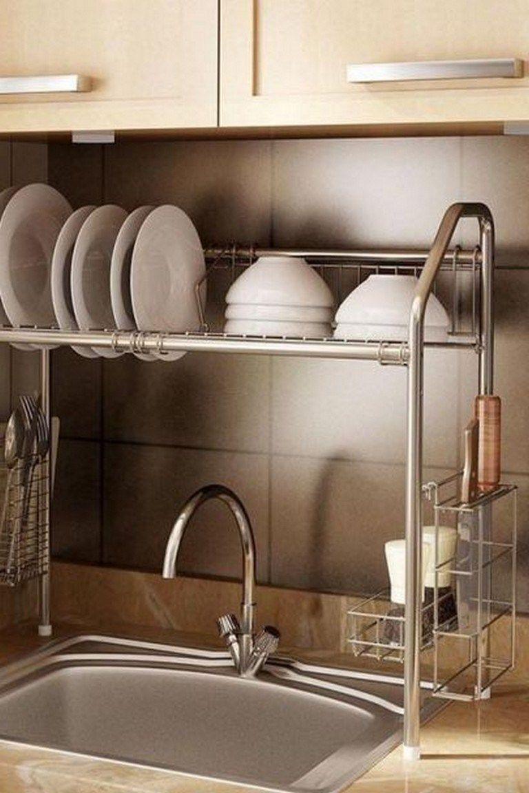 25 Elegant Stainless Steel Dish Rack Design Ideas Over Sink