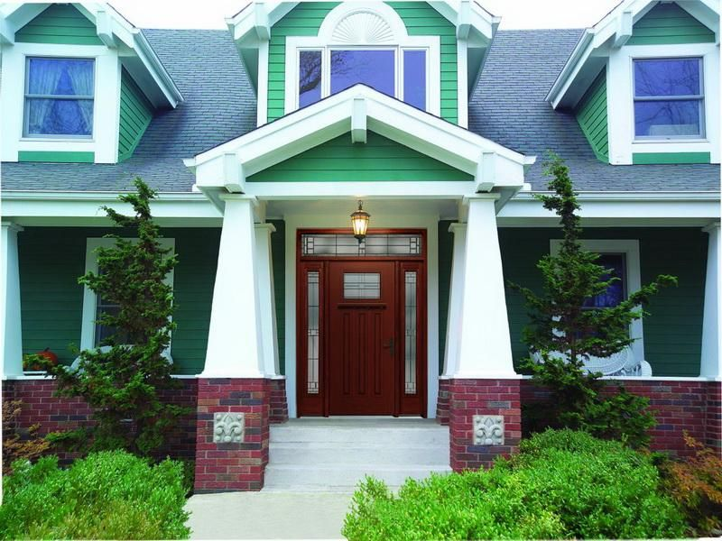 Exterior Modern House Mint Green Paint Color