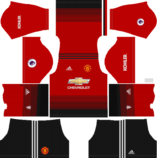 Manchester United 2018 19 Home Kit Dream League Soccer Kits Manchester United Home Kit Manchester United Logo Soccer Kits