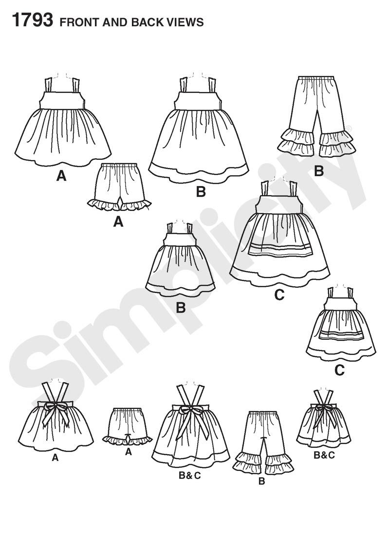 Matilda Jane knock-off dress + matching doll dress pattern ...